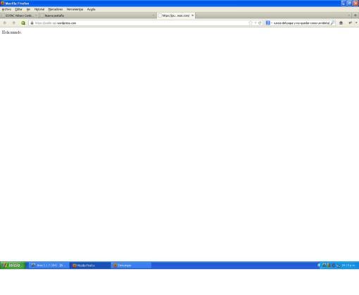 """""""Hola mundo"""" en una pagina de wordpress api"""